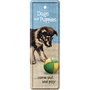 Semn de carte metalic Dogs and Puppies