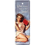 Semn de carte metalic Pin Up - What women want