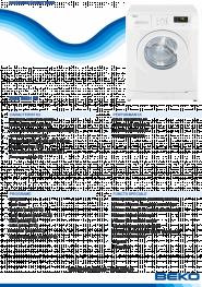 Masina de spalat automata Beko WMB50831PT, 5 kg, A+, 800 rpm, 11 programe, PET