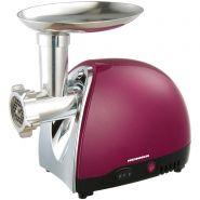 Masina de tocat carne Heinner MG1500TA-BG, 1600 W, Accesoriu pentru rosii si carnati, Cutit inox, Visiniu sidefat