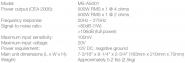 AMPLIFICATOR DIGITAL MONO JBL MS-A5001