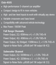 AMPLIFICATOR PE 5 CANALE JBL CLUB-4505