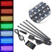 Kit benzi RGB cu led SMD si telecomanda Alb