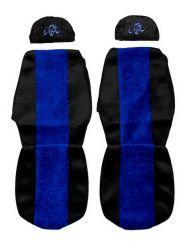 Huse scaune auto 2 Piese pentru RENAULT Albastru