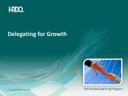 DEMO GRATUIT: Delegating for growth E-Learning