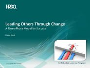Leading others trough change E-Learning