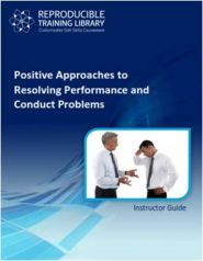 Positive approaches to resolving performance and conduct problems