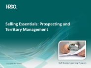 SELLING ESSENTIALS: Prospecting and territory management E-Learning