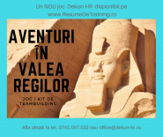 Aventuri in Valea Regilor - Joc de Team Building (corporate / open / kit)