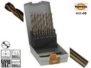Caseta metal burghie Hawera Pro Box, HSS-Co, 1-10mm x 19 bucati