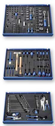 Dulap mobil E010192 cu 6 sertare echipat cu 208 scule in module de spuma