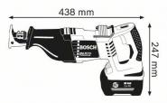 Ferastrau sabie GSA 36 V-LI x 2 Acumulatori 2.6 Ah