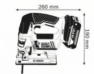 Ferastrau vertical GST 18 V-LI B Solo (fara acumulatori si incarcator) L-BOXX