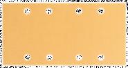Foaie abraziva C470 pentru slefuitoare cu vibratii, Best for Wood and Paint, 93x186 mm, 8 orificii, G 150