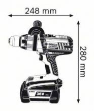 Masina de gaurit cu percutie GSB 36 VE-2-LI x 2 acumulatori 2.0 Ah LBOXX