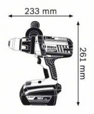 Masina de gaurit si insurubat GSR 36 VE-2-LI x 2 Acumulatori 2.0 Ah L-BOXX