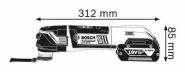 Multi-Cutter GOP 18V-28 x 2 Acumulatori 5 Ah L-BOXX