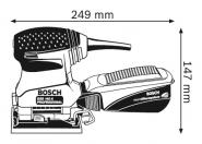 Slefuitor cu vibratii GSS 140-1 A Cutie carton