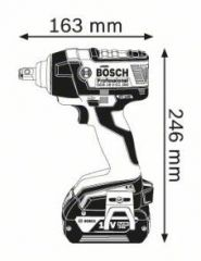 Surubelnita cu impact GDS 18 V-EC Solo (fara acumulatori si incarcator)