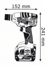 Surubelnita cu impact GDS 18 V-LI Solo (fara acumulatori si incarcator)