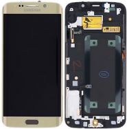 LCD/Display cu touchscreen Samsung S6 Edge G925 auriu
