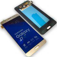 LCD/Display cu touchscreen Samsung J7 2016 (J710)auriu