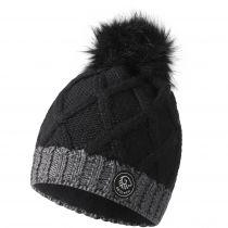 Caciula lana merino, model Monte Fumo, negru