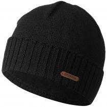 Caciula lana merino, model Wildgrat, negru