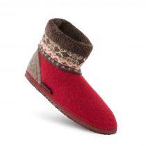 Papuci de casa din lana, model Kristiansand,unisex, rosu 36