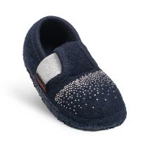 Papuci de casa Taben, din lana, model fetite, bleumarin 23