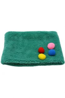 Fular circular, flausat, pentru copii, cu pompom