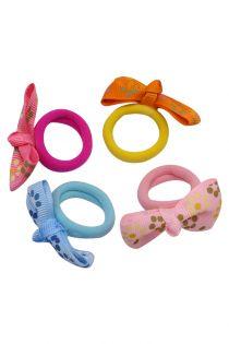 Set 4 elastice pentru copii, fundita, textil