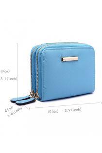 Portmoneu pentru femei, de mici dimensiuni, cu doua compartimente, albastra LP6680 L BE