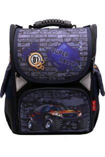 Ghiozdan scoala BROTHERS, rucsac pentru baieti, ergonomic, cu pereti rigizi, masina, Super Rally  Z-6-4