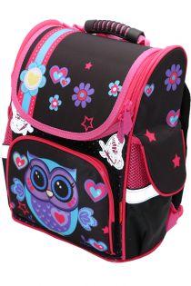 Ghiozdan scoala BROTHERS, rucsac pentru copii, fete, ergonomic, cu pereti rigizi, Bufnita  Z-7-4