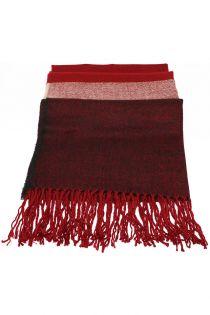 Fular sau sal pentru femei, supradimensionat, din poliester, toamna iarna, 2 culori, bordo rosu, ZS-20-1