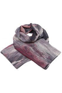 Esarfa pentru femei, din polyester subtire, primavara toamna, gri rosu cu print linii, Li026-2