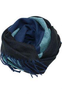 Fular sau sal pentru femei, supradimensionat, din poliester, toamna iarna, 2 culori, albastru turcoaz, ZS-20-3