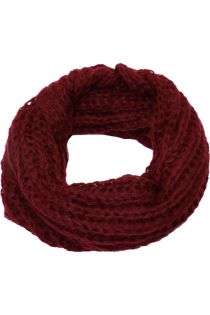 Fular circular,tricotat, pentru femei, din poliester,supradimensionat,toamna iarna, bordo, ZR-7-4