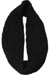 Fular circular,tricotat, pentru femei, din poliester,supradimensionat,toamna iarna, negru, ZR-8-1