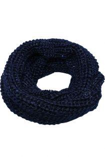 Fular circular,tricotat, pentru femei, cu paiete, din poliester,supradimensionat,toamna iarna, albastru ZR-1-8