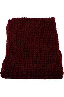 Fular circular,tricotat, pentru femei, din poliester,toamna iarna, bordo, ZR-3-1