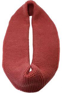 Fular circular,tricotat, pentru femei, din poliester, supradimensionat, toamna iarna, roz inchis , ZR-4-1