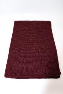 Fular tricotat, pentru femei, din poliester,supradimensionat,toamna iarna, bordo, ZR-12-1, Adina
