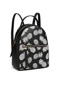 Rucsac pentru femei, cu print ananas, negru, Brazilia