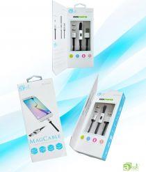 Cablu USB magnetic de incarcare si transfer pt Android cu 2 adaptori