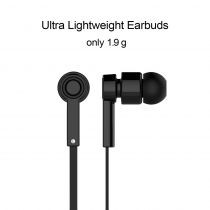 Casti bluetooth in-ear Jabees cu microfon pe fir usoare si confortabile Black