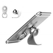 Suport auto magnetic din aluminiu cu inel pt telefon KG-silver