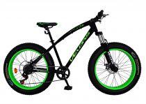 Bicicleta Fat Bike VELORS, V2400A, cadru otel, culoare negru / verde