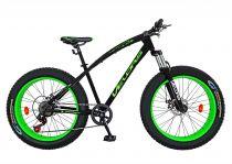 Bicicleta Fat Bike VELORS, V2600A, cadru otel, culoare negru / verde